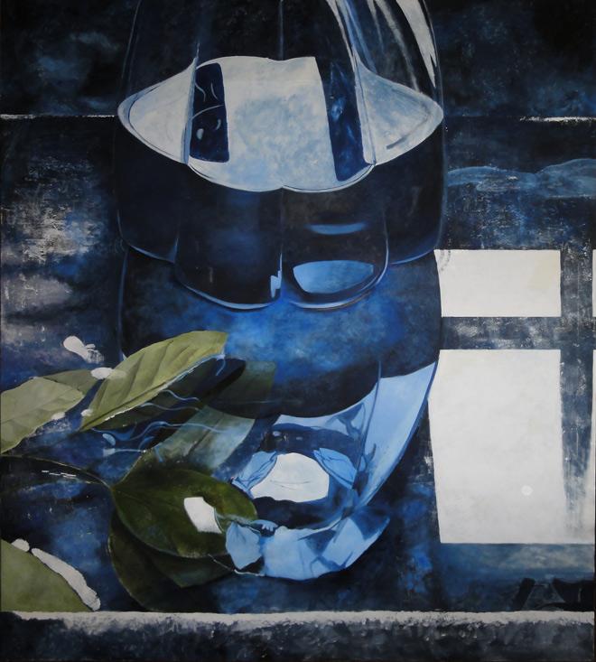 Blu Profondo, olio su tela, 180x200 cm 2013